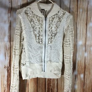 Free People Lace & Crochet Jacket